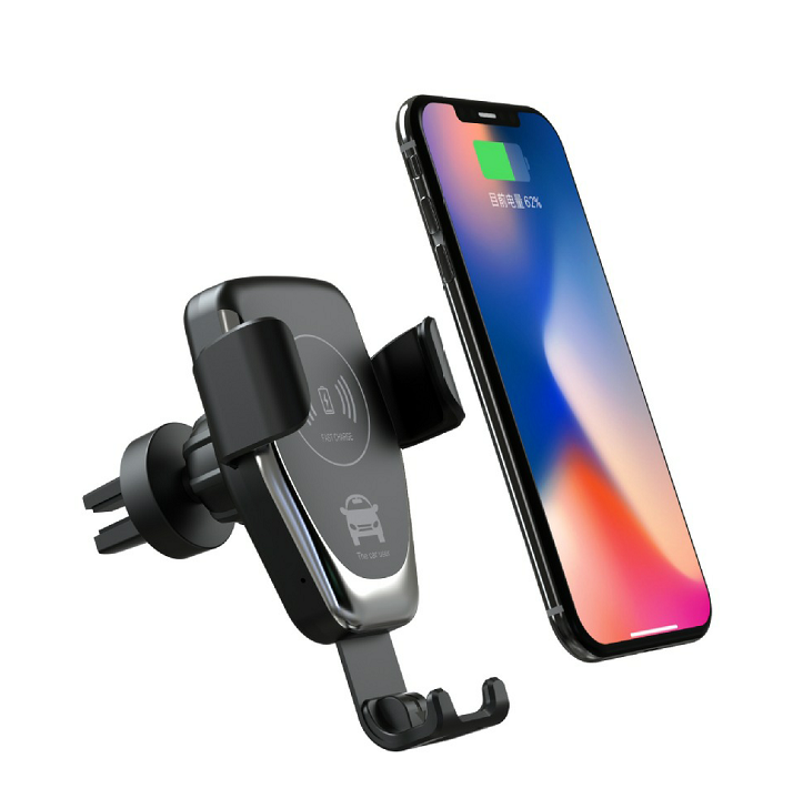 BUBM 2019 Universal Adjustable Automatic Car Mount Mobile Cell Phone Holder with Wireless Charging