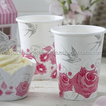 Vintage Theme Party Shabby Vintage Retro Pink Paper Floral Party