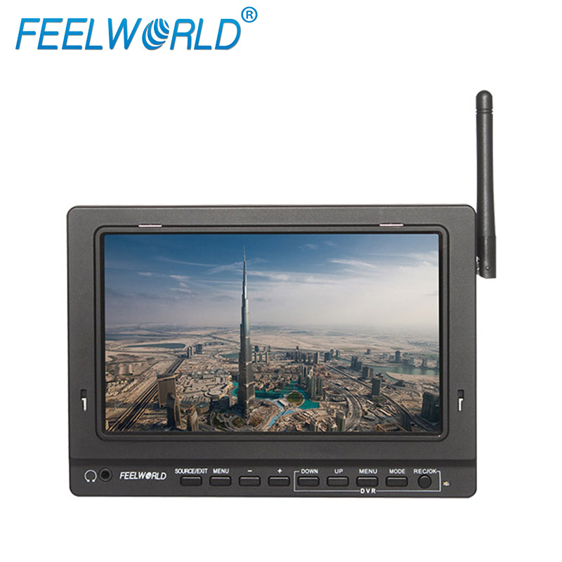 "5.8GHz Wireless AV transmitter Receiver 7"" FPV LCD Monitor for quadcopter with camera"