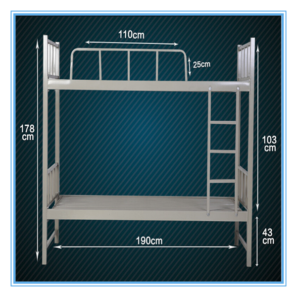 diseo simple de acero litera para adultos cama litera para dos cama en el suelo