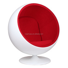 Molded fiberglass Eero Aarnio Ball chair