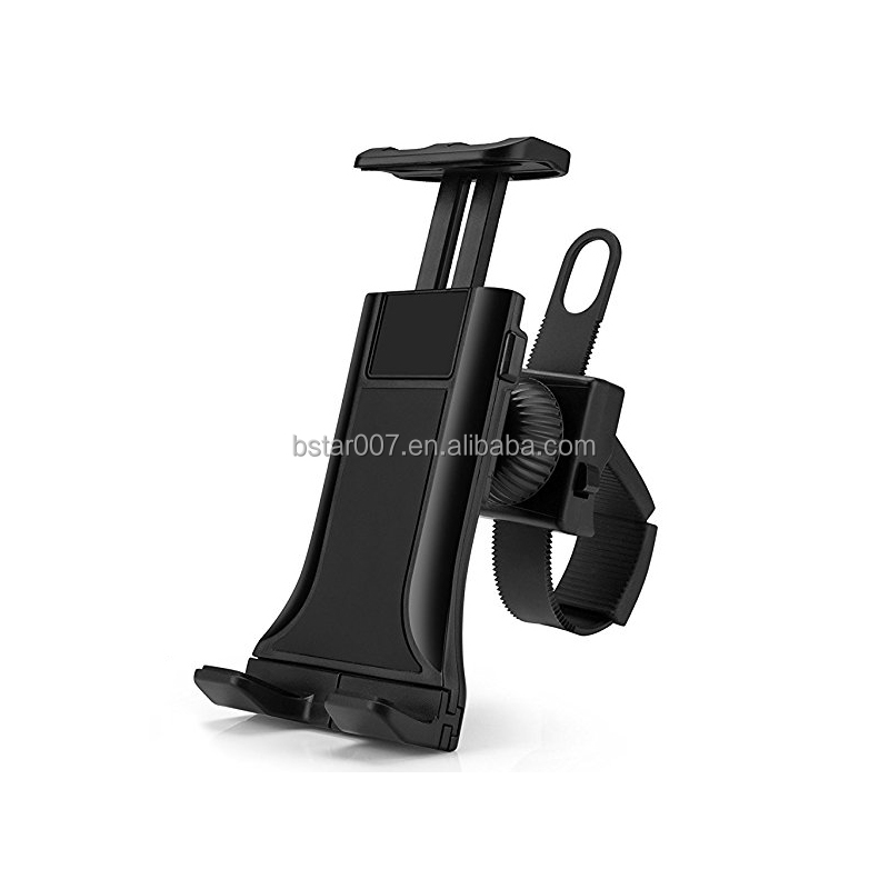"New Zip-Grip Bicycle Treadmill Exercise Bike Handlebar Mount Holder for iPhone iPad For 3.5-12"" Tablets Cell Phones"