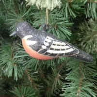 2017 Most Popular Christmas Birds Shape Pendant vintage glass christmas ornaments images with certificate