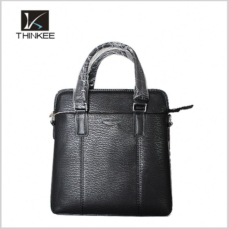 Mens Italian Oil Leather Professional Business Briefcase Messenger Bag