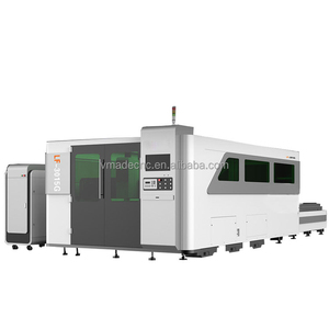 exchange table steel aluminum silver iron 500W cnc fiber metal laser cutting machine