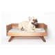 Wood Small Dog Cat Bed with Warm Pad