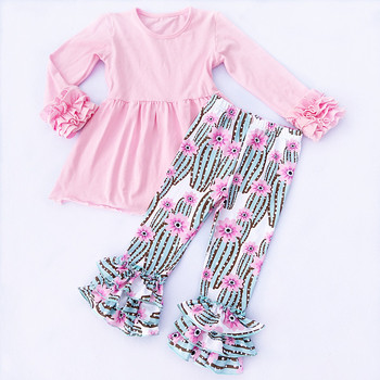 beautiful children clothes online top with heart prints leggings baby winter clothing set