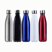 17oz custom bottle, double wall insulated vacuum stainless steel water bottle, custom stainless steel sports bottle