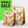wholesale L size paper gift bags with hook&loop paper bag