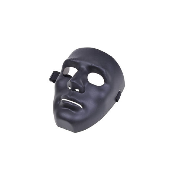 full face plastic plain mask