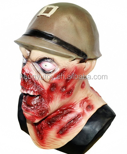 Halloween wholesale  high-quality horror Army Captain Leister latex mask for Halloween decoration
