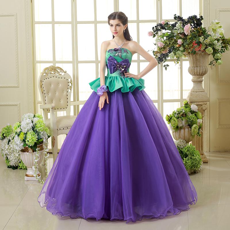 Venta al por mayor vestidos de novia pollera de tul-Compre online ...