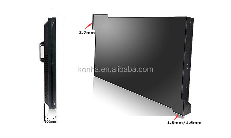 Exhibition 46 Inch 4x3 LCD Splicing Video Wall With HDMI Splitter