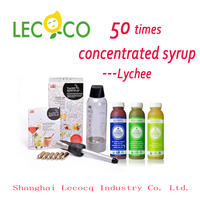 Leco 50 Times Concentrated fruit cocktail Beverage Syrup homemade soda water
