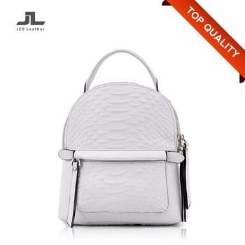 70f995d137 Fashion Small Snake Pattern Leather Hologram Antitheft Women Backpack