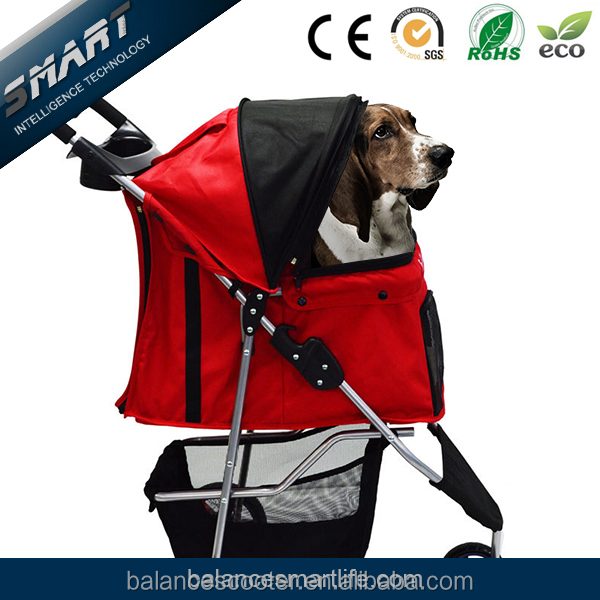Luxury multi-colors three wheels pet dog stroller/ pet travel trolley/ dog prams for sale