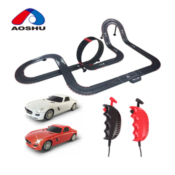 Smart design high quality electric 1:43 scale stunt track car toy with diy race track