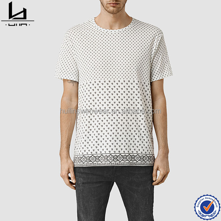 t shirt wholesale china contrast pocker print round neckline t shirt for men