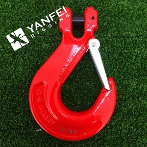 Factory price G80 clevis slip hook with safety latch, Sling hook