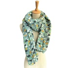 100% plain polyester satin silk feel rayon scarf and shawl for lady