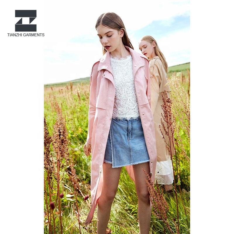 Directe Verkoop Custom Fashion Hoge Kwaliteit Vrouwen Zomer Geul Dames Lange Jas Ontwerp