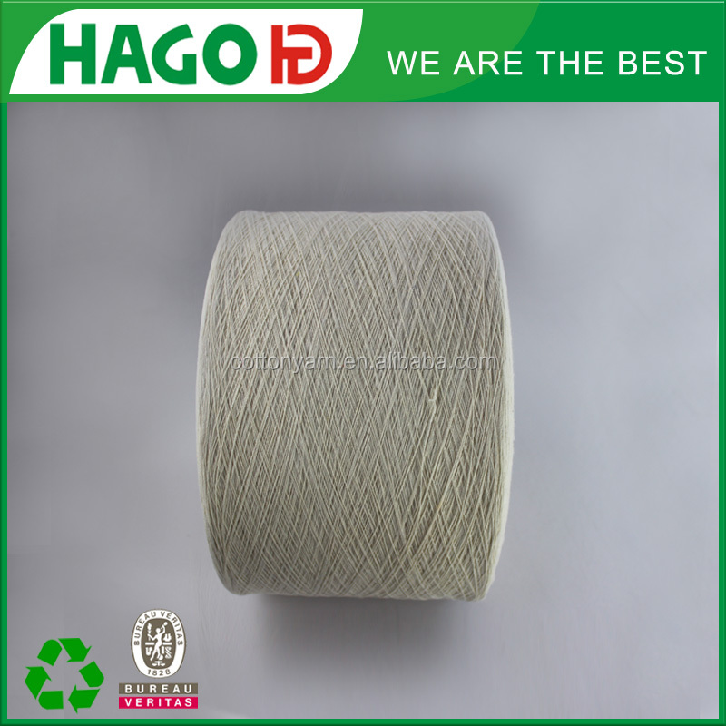 100 6s polyester blended weaving recycled oe regenerated spun glove yarn agents