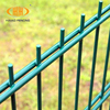 Germany style twin wire fence 8/6/8 double wire mesh fence panels