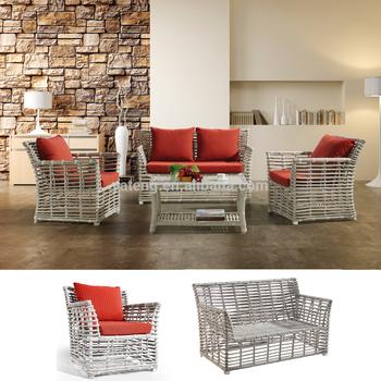 Stylish Rattan Woven Side Open Sofa Set Whole Garden Outdoor Furniture Wicker