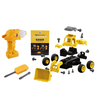 Remote Control Bulldozer Take Apart Toys Assembly Toy Car DIY for Kids Build N Play Educational Blocks Set Gift for Boys Girls