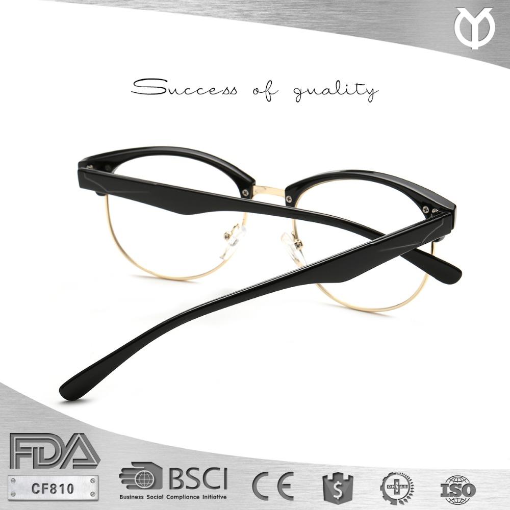CF810 moda ronda Semi-sin montura bien Zenni gafas marco óptico ...