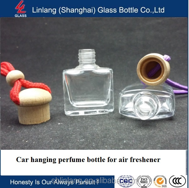 10ml Hanging car diffuser bottle for air freshener with wooden cap best price