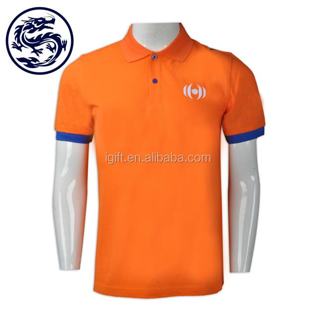 orange golf shirt