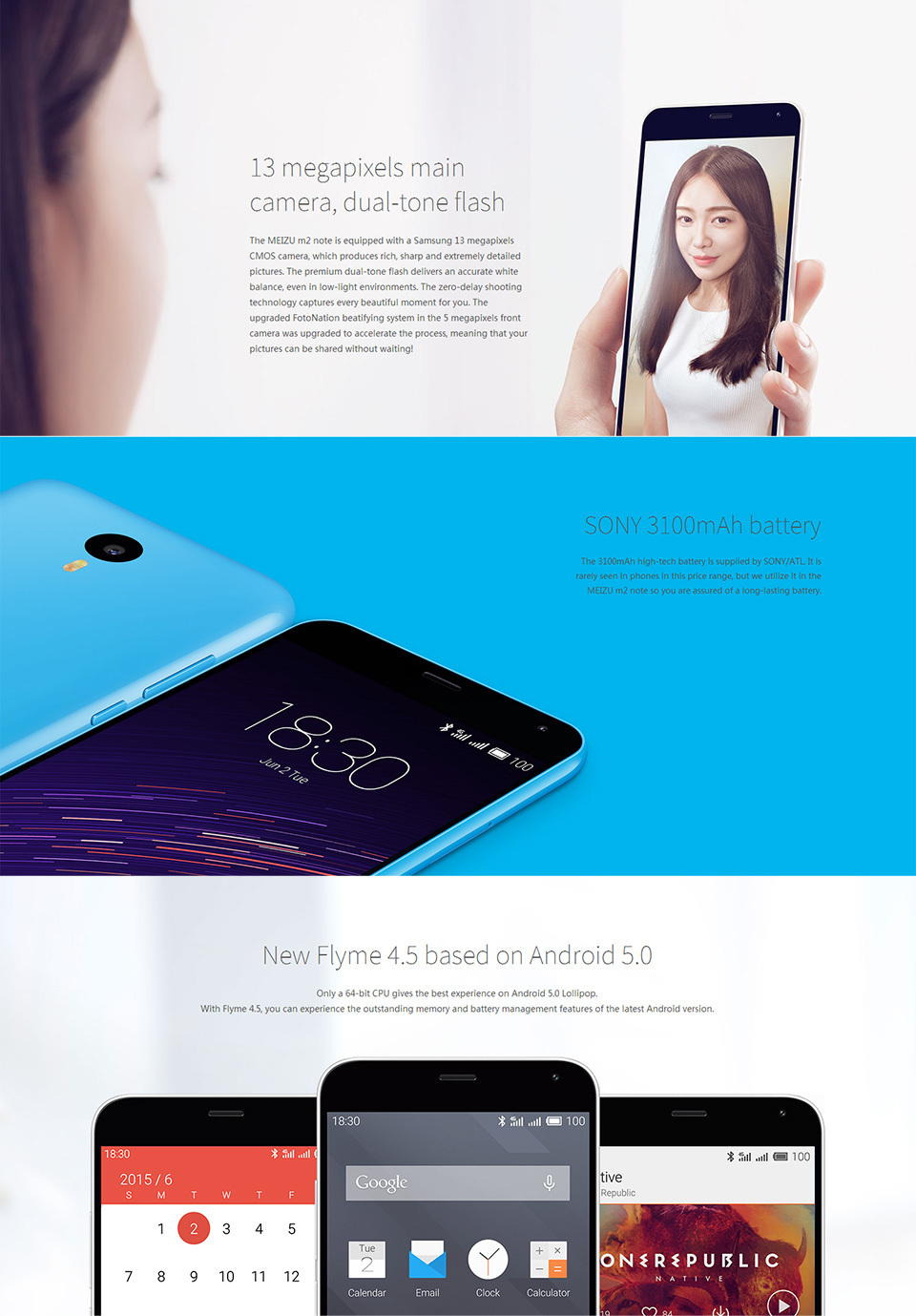 "Wholesale Meizu M2 Note 2 Note2 4G FDD LTE Dual SIM Mobile Phone 5.5"" 1920X1080P MT6753 Octa Core 13.0MP Battery 3100mAh Flyme4"