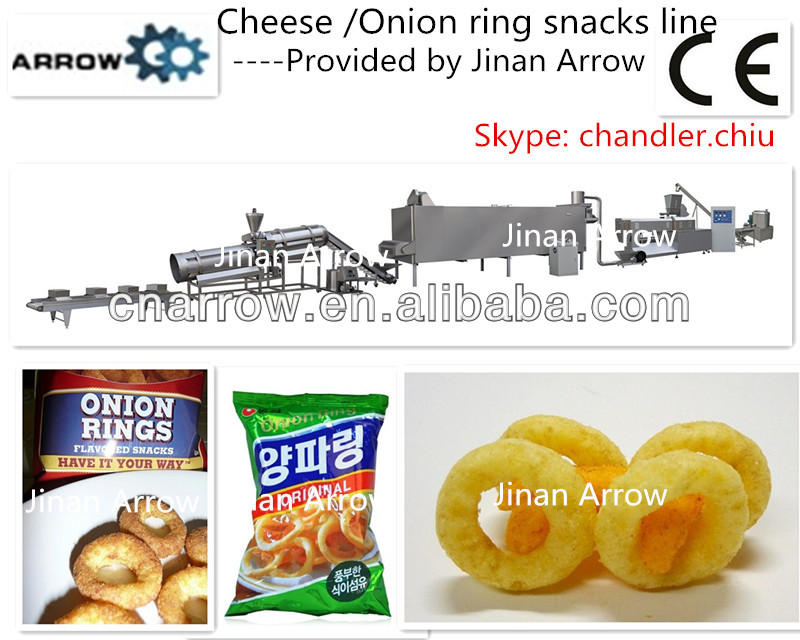 cheese onion ring snacks machine