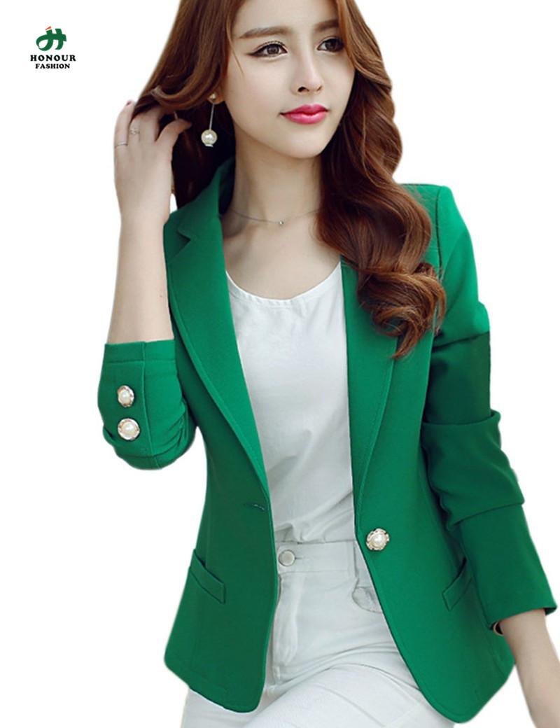 2016 New Fashion Spring Women Blazer Ladies Suit Blazer