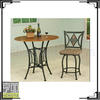 2014 famous round MDF pub set 1+2 , bar table and stools