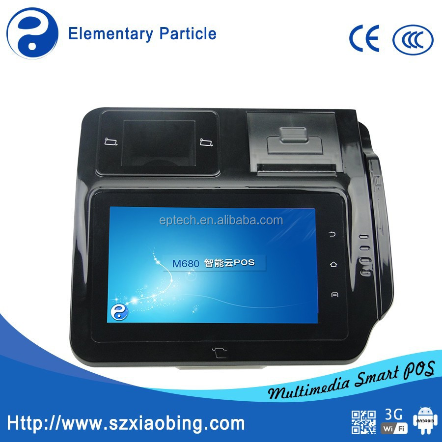M680 Mini 7 inch All in one Android Retail Touch Screen Thermal POS Bill printer WIFI with Fingerprint/Barcode Scanner