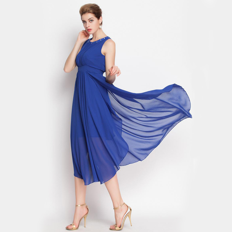 f6a9683a96 Buy Womens Summer style Dresses 2015 Casual O-neck Maxi Dress Vestido De  Festa Chiffon Women Dress Desigual Evening Party dresses in Cheap Price on  ...