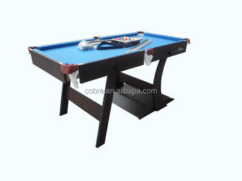 Single Folding Billiard Table,Portable Pool Game Table,5ft Or 6ft Foldable  Billiard