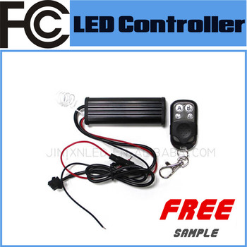 Fcc Universal Rgb Led Lights 12v Car Remote Control Strobe Flash Fade Mode  - Buy Led Lights 12v Car Remote Control,Led Light Strobe Controller 12v,Led