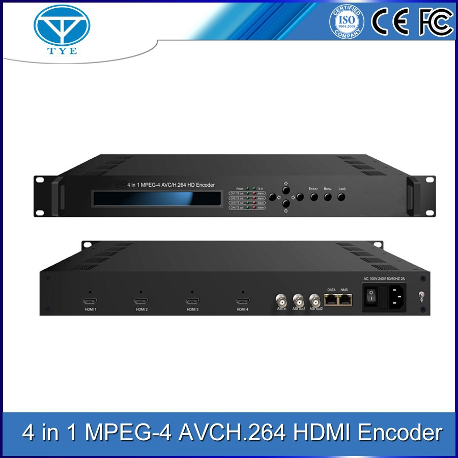 TY-4104 4 in 1 MPEG-4/AVC/H.264/MPTS HD encoder