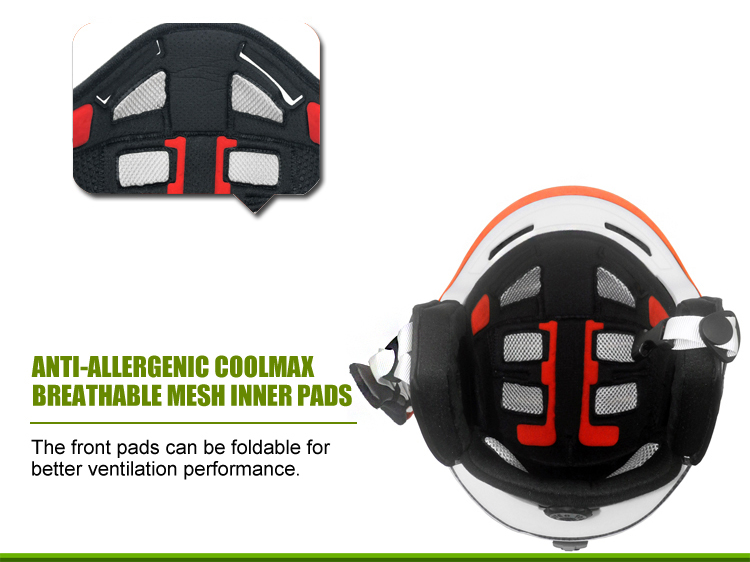 Multyfunctional Carbon Fiber Ski Helmet 13