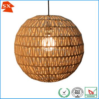 Premium quality globe ball hemp rope thread woven diy hanging lamp premium quality globe ball hemp rope thread woven diy hanging lamp shade aloadofball Images
