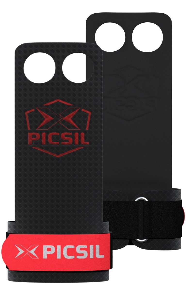 PICSIL, RX 2 HOLES,Hand grips for men, Hand grips for women, Fly with picsil, pullup grips. RX, new line of, grips,crossfit gloves, crossfit grips, gymnastic grips, palm grips, pullup grips.