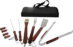 Kitchenworthy 11 Piece Bbq Tool Set (12 Pieces) - The Kitchenworthy 11 Pc Bbq Set Contains All The Essentials You Will Need For Your Next Bbq. The Set Features A Zippered Storage Case. Materials: Met