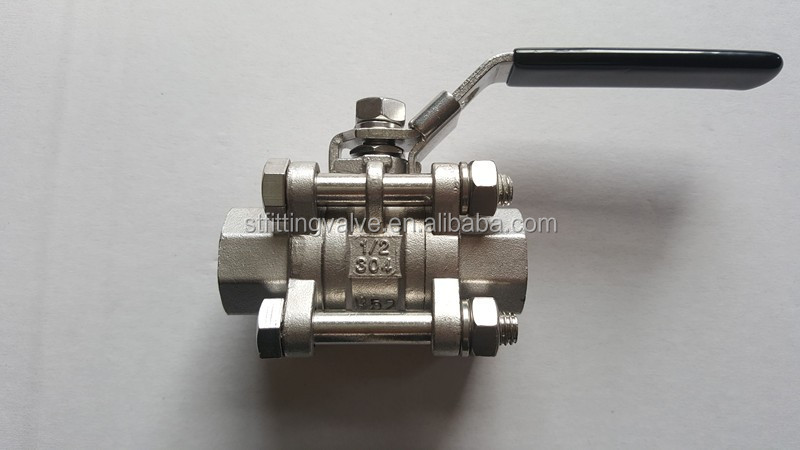 "Stainless Steel Brewing kettle 3pc ball valve, 1/2""NPT"