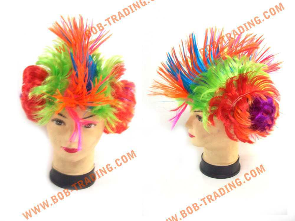 cheap football fans wig,party wig,crazy wig hair gel for women