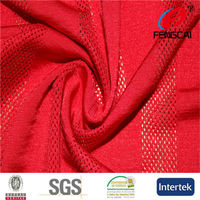 4 way stretch fluoresent red fabric for safety vest fabric