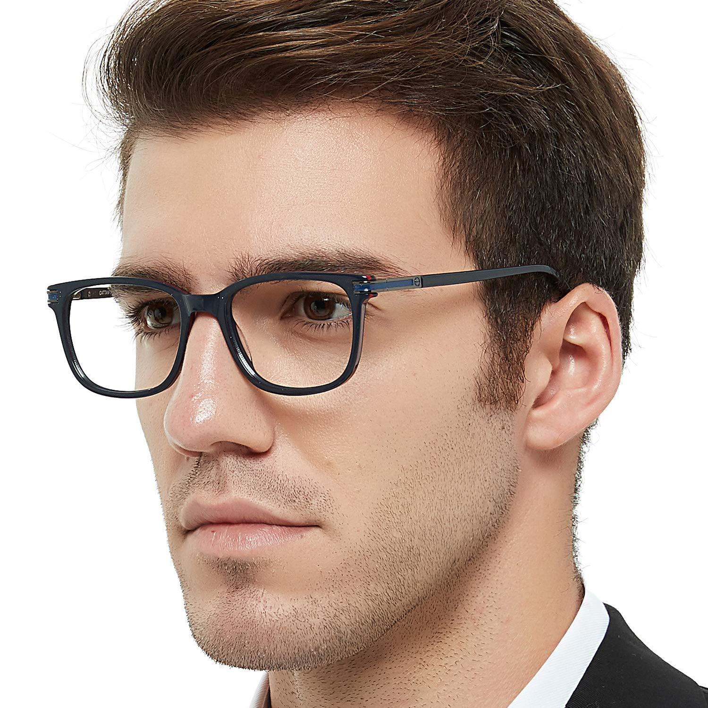 2fc2998f6a4 Get Quotations · OCCI CHIARI Optical Eyewear Non-prescription Fashion  Glasses Eyeglasses Frame with Clear Lenses For Men