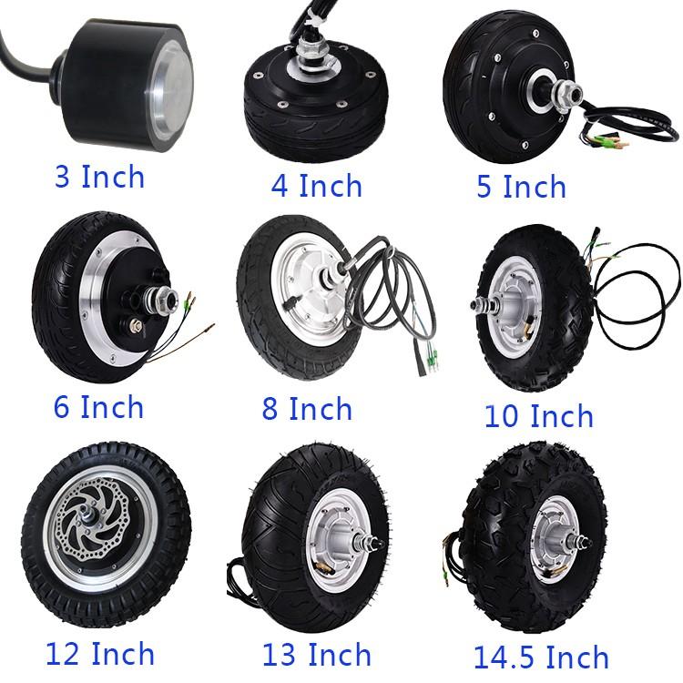 Single Axle 350 1600rpm Electric Wheel Hub Motor Car